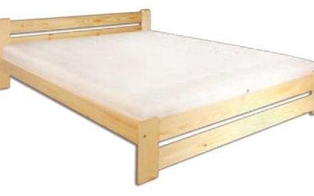 Dřevěná postel 140x200 LK118 borovice