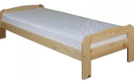 Dřevěná postel 100x200 LK122 dub