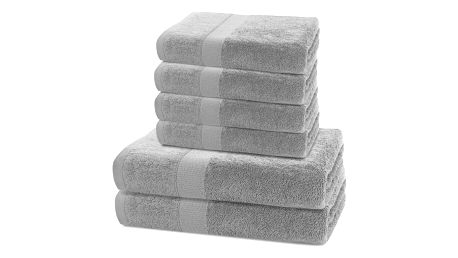 DecoKing Sada ručníků a osušek Marina šedá, 4 ks 50 x 100 cm, 2 ks 70 x 140 cm