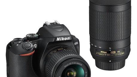 Nikon D3500 + 18-55 AF-P VR + 70-300 AF-P VR černý (VBA550K005)