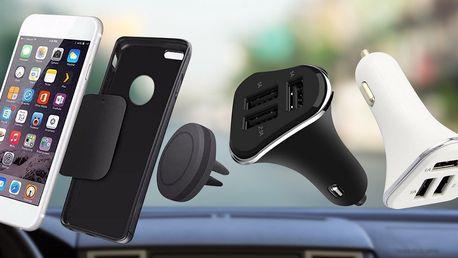 Magnetický držák telefonu i USB autonabíječka