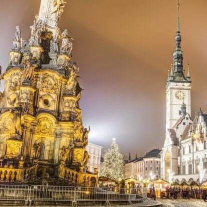 Olomouc s vánočními trhy v Hotelu Senimo *** se snídaní a regionální kartou