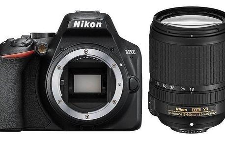Nikon D3500 + 18-140 AF-S VR černý (VBA550K004)