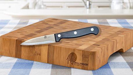 Robustní bambusové prkénko a nůž Dellinger