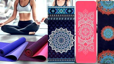 Podložky: na jógu s mandalou i protiskluzové