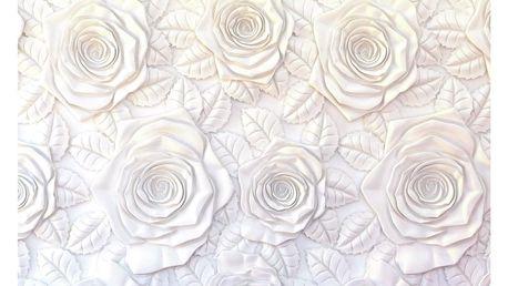 AG Art Fototapeta XXL 3D Roses 360 x 270 cm, 4 díly