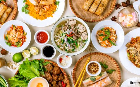 Vietnamský oběd: snězte, co se na talíř vejde
