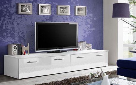 RTV stolek DUO, bílá matná/bílý lesk