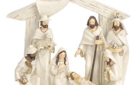 Koopman Vánoční dekorace Betlém hnědá, 22 x 7