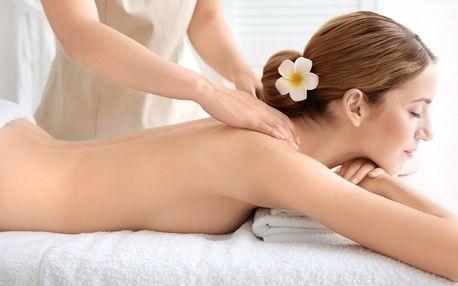 Masáž dle výběru s přírodní kosmetikou Saloos