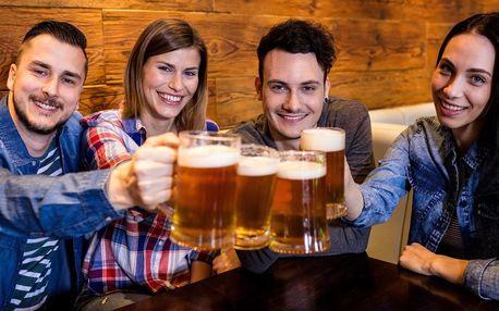 10 ks piva Pilsner Urquell nebo Gambrinus ve Švejk restaurant Strašnice