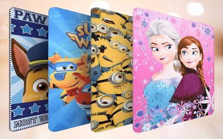 Dětské flísové deky s motivy Frozen i Mimoni