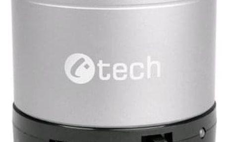 Přenosný reproduktor C-Tech SPK-04S stříbrný (SPK-04S)