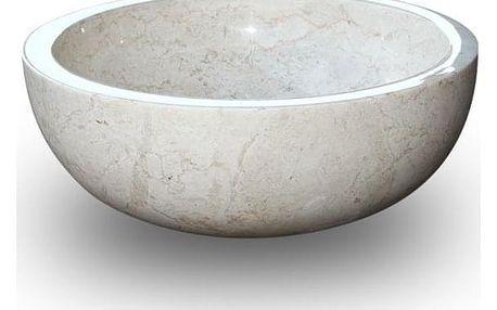 Indera Gemma 501 Ø40 cm Cream Kamenné umyvadlo leštěný mramor