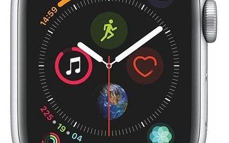 Apple Watch Series 4 GPS 40mm pouzdro ze stříbrného hliníku - bílý sportovní řemínek SK verze (MU642VR/A)
