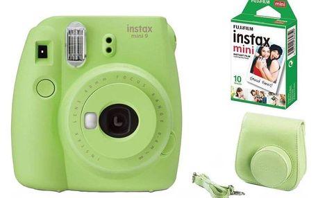 Digitální fotoaparát Fujifilm Instax mini 9 + pouzdro zelený