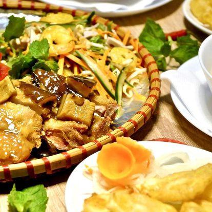 4chodové menu vietnamských specialit pro 2 osoby