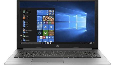 """Notebook HP 255 G7 stříbrný (R3-2200U, 8GB, 1TB, 15.6"""", Full HD, DVD±R/RW, AMD Radeon RX Vega 3, BT, CAM, W10 Home ) (6MP75ES#BCM)"""