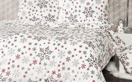 4Home povlečení mikroflanel Snowflakes, 140 x 220 cm, 70 x 90 cm