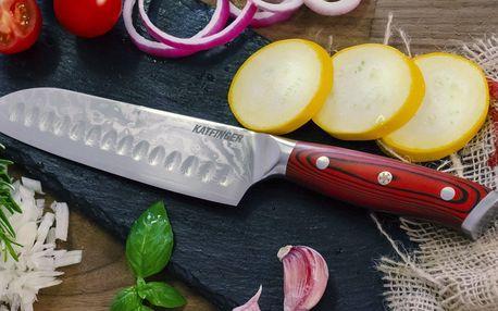 Špičkové nože Katfinger ze 67vrstvé damaškové oceli
