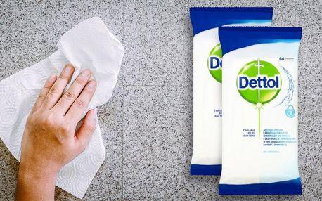 Antibakteriální ubrousky na povrchy Dettol