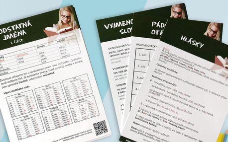 Praktické karty na procvičování učiva z češtiny