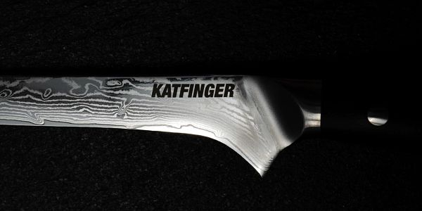 """Damaškový nůž Katfinger na zeleninu 3,5"""" - červený5"""