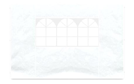 Garthen 564 Sada 2 bočních stěn pro zahradní stan - bílá