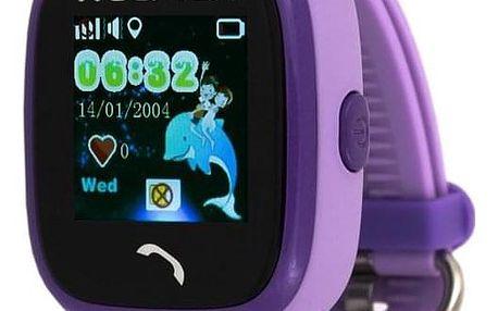 Helmer LK 704 dětské s GPS lokátorem fialové (Helmer LK 704 V)
