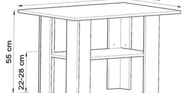 Konferenční stolek BEST Bílá3