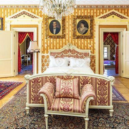Romantický pobyt v zámeckém apartmánu pro dva