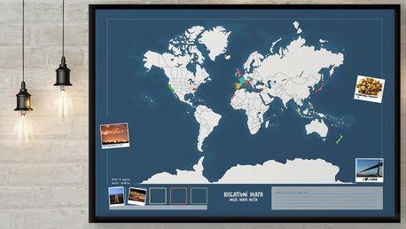 Kreativní vybarvovací mapa světa se samolepkami