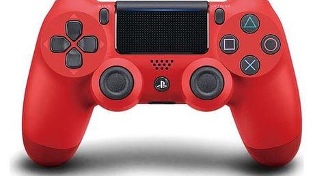 Gamepad Sony Dual Shock 4 pro PS4 v2 červený (PS719814153)