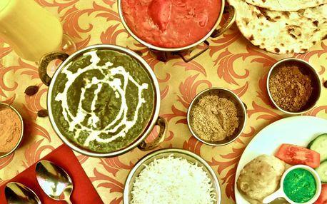 Indické menu podle výběru i s lassi pro 2 či 4 os.