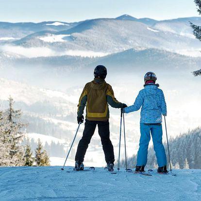 Zima v Krušných horách s polopenzí a bazénem
