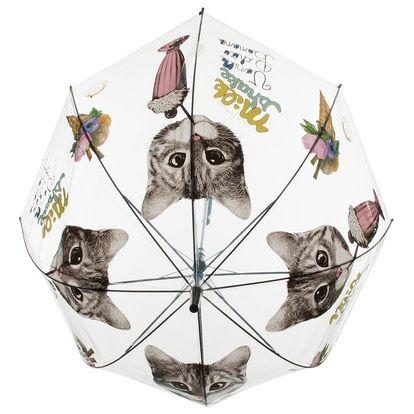 Deštník kočka průhledný - Milk shake