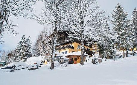 Rakouské Alpy u ski areálů v českém penzionu Savisalo *** se snídaní a saunou