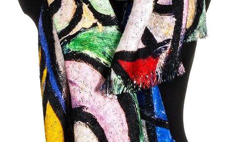 Fashion Icon Šála teplá přes ramena velká Grafic