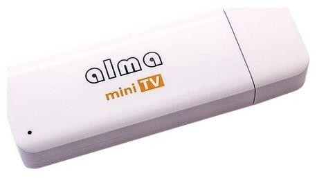 ALMA mini TV, DVB-T2, H.265 bílá (DBTALH1USB121)