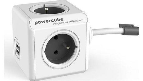 Powercube Extended USB, 4x zásuvka, 2x USB, 3m bílý