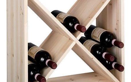 Dřevěný stojan na víno, 24 lahví, ZELLER