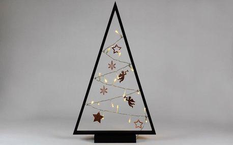 Nexos 57419 Světelná dekorace černá - Vánoce - 20 LED teple bílá