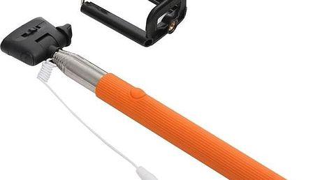PLATINET OMEGA MONOPOD, jack 3.5 mm, oranžová (416845)