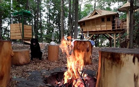 Rodinný pobyt v treehouse