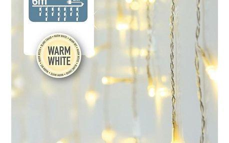 Světelný řetěz Icicle teplá bílá, 180 LED