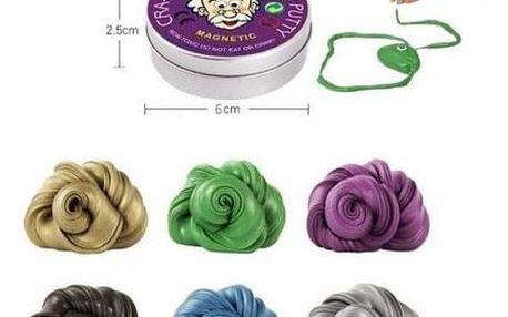 Inteligentní magnetická plastelína v šesti různých barvách
