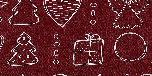Dakls Ubrus Vánoční čas, 80 x 80 cm2
