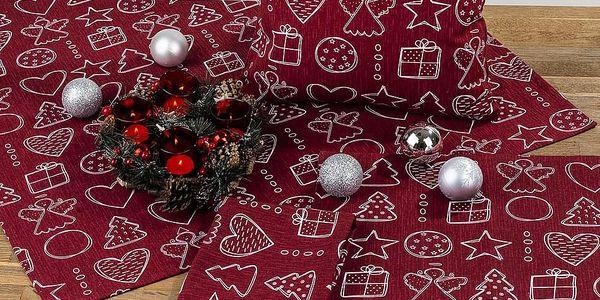 Dakls Ubrus Vánoční čas, 80 x 80 cm3