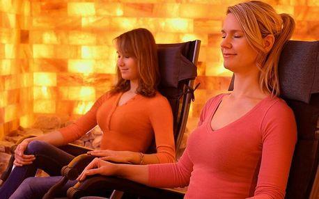 Soukromá relaxace v solné jeskyni pro dvě osoby