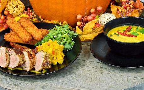 Podzimní menu pro dva: panenka i dýňový koláček